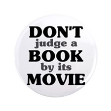 """Don't Judge a Book by its Mov 3.5"""" Button (100 pac"""