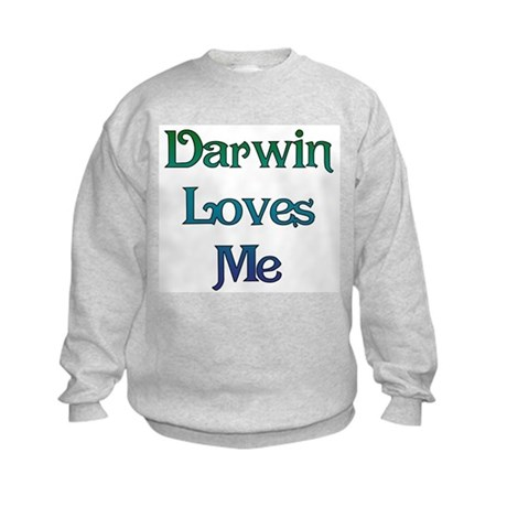 Darwin Loves Me Kids Sweatshirt