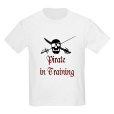 kids pirate in training t shirt
