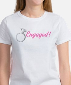 Engaged Diamond Ring Women's T-Shirt
