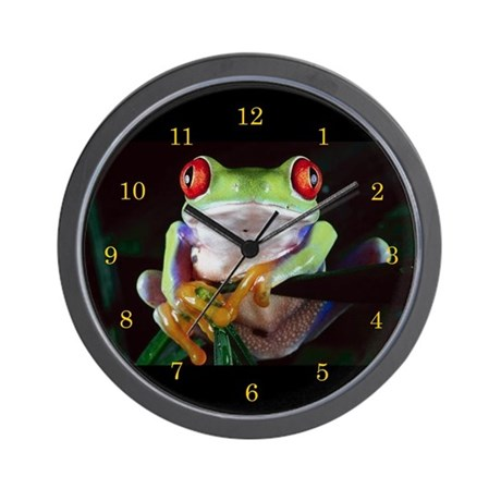 """""""Red-Eyed Frog"""" Wall Clock"""