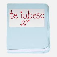 Te Iubesc! baby blanket