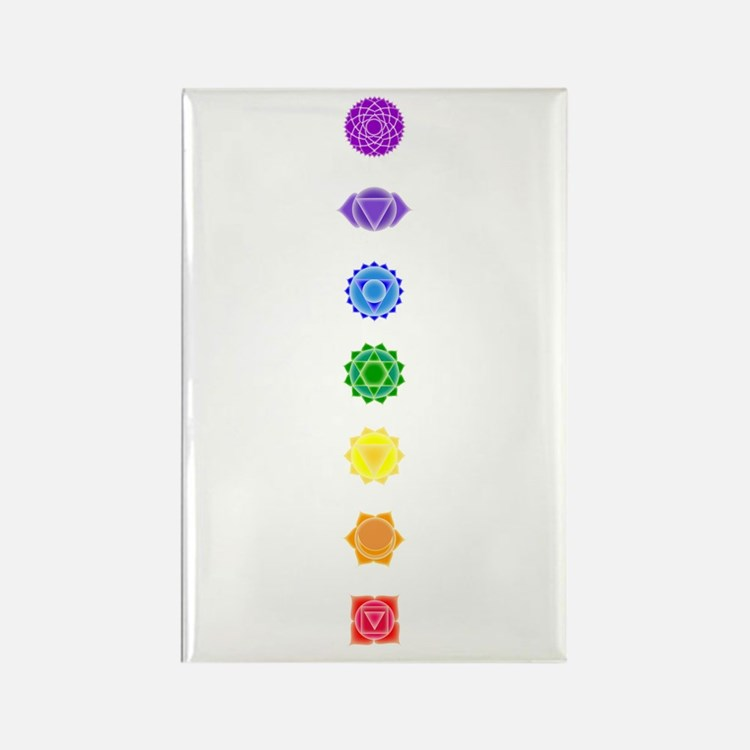 The Chakras Rectangle Magnet (100 pack)