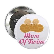 "Mom Of Twins Peanut 2.25"" Button"