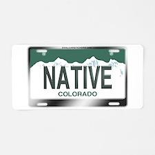 """NATIVE"" Colorado License Plate Aluminum License P"