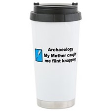 Flint Knapping Travel Mug