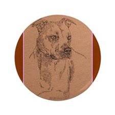 """American Pit Bull Terrier 3.5"""" Button (100 pack)"""