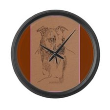 American Pit Bull Terrier Large Wall Clock