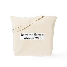 Loves Moldova Girl Tote Bag