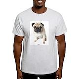 Pug dog Mens Light T-shirts