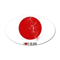 HOPE FOR JAPAN 22x14 Oval Wall Peel