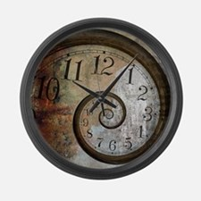 Spiral Face Large Wall Clock