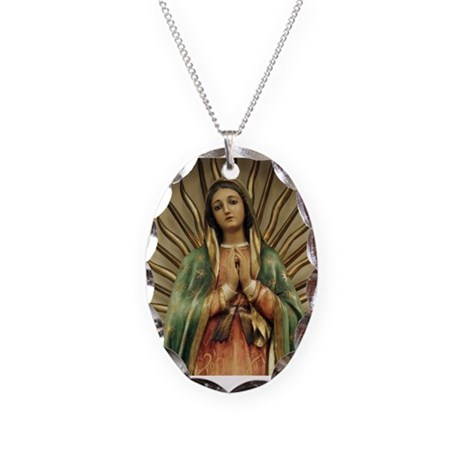 Guadalupe Necklace Oval Charm