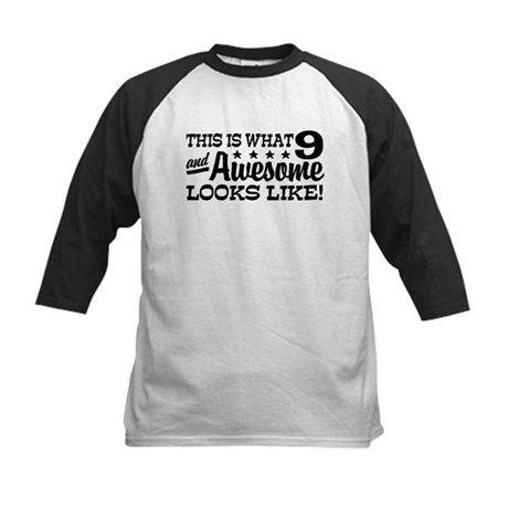Funny 9 Year Old Kids Baseball Jersey