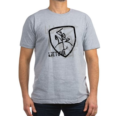 Distressed Vytis and Lietuva Men's Fitted T-Shirt
