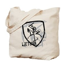 Distressed Vytis and Lietuva Tote Bag