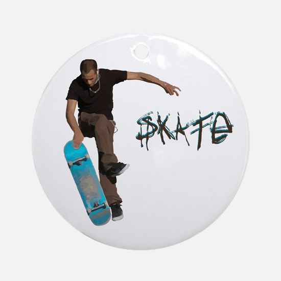 Skate Fakie Ornament (Round)