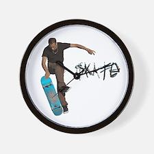 Skate Fakie Wall Clock