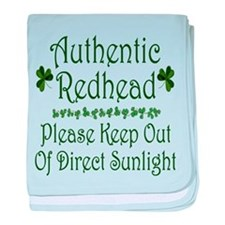 Authentic Redhead baby blanket