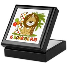 Cute Lion 1st Birthday Keepsake Box