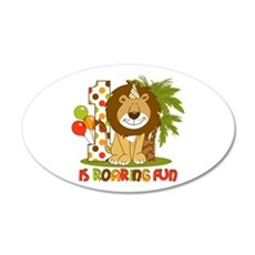 Cute Lion 1st Birthday 22x14 Oval Wall Peel
