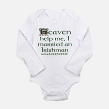 I Married An Irishman Long Sleeve Infant Bodysuit