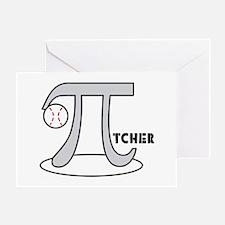 Funny Baseball Pi-tcher Greeting Card