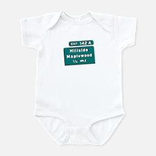 Exit 142A, Maplewood, NJ Infant Creeper