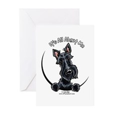 Black Scottie IAAM Greeting Card