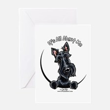 Black Scottie IAAM Greeting Card