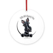 Black Scottie IAAM Ornament (Round)