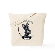 Black Scottie IAAM Tote Bag