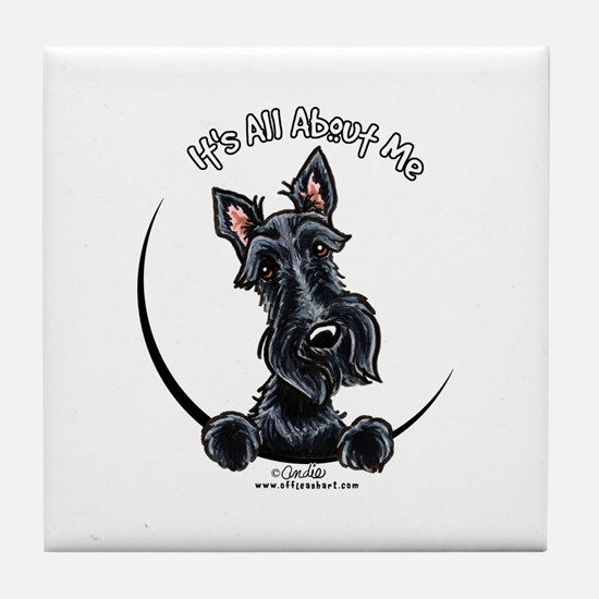 Black Scottie IAAM Tile Coaster