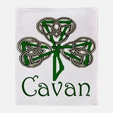 Cavan Shamrock Throw Blanket