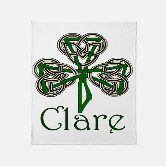 Clare Shamrock Throw Blanket
