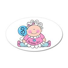Little Doll 3rd Birthday 22x14 Oval Wall Peel