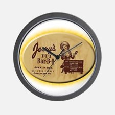 Jerry's Pit Bar-B-Q Wall Clock
