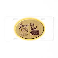 Jerry's Pit Bar-B-Q Aluminum License Plate
