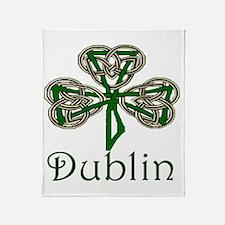 Dublin Shamrock Throw Blanket