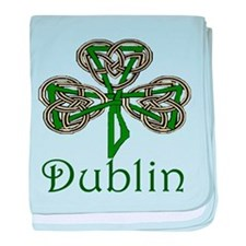 Dublin Shamrock baby blanket