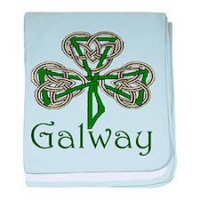 Galway Shamrock baby blanket