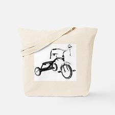 Retro Black Tricycle Tote Bag