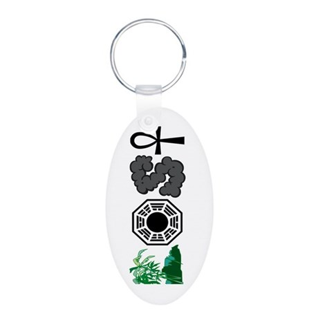 LOST Symbols Aluminum Oval Keychain