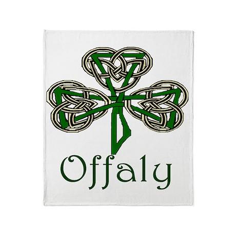 Offaly Shamrock Throw Blanket