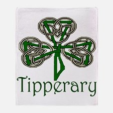 Tipperary Shamrock Throw Blanket