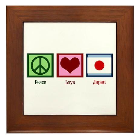 Peace Love Japan Framed Tile