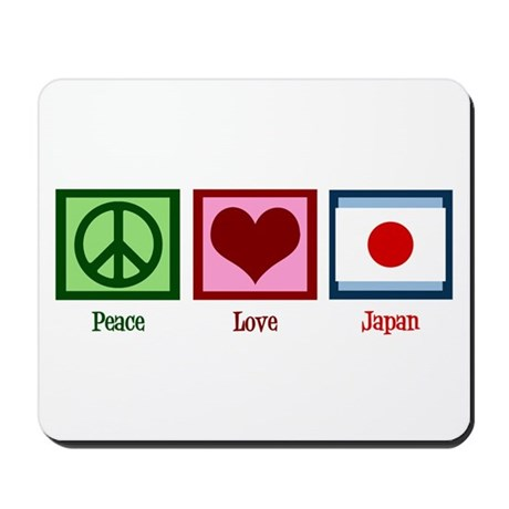 Peace Love Japan Mousepad