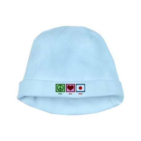 Peace Love Japan baby hat