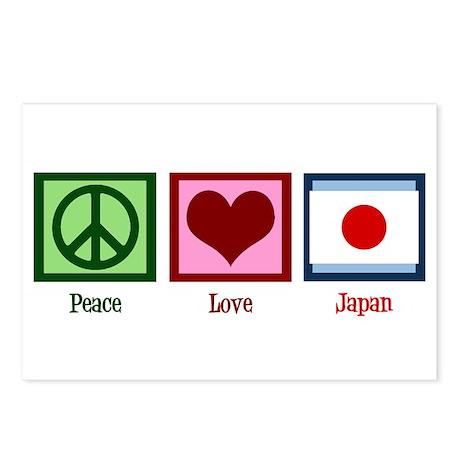 Peace Love Japan Postcards (Package of 8)