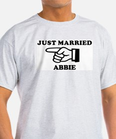 Just Married Abbie Ash Grey T-Shirt
